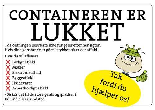 container er lukke